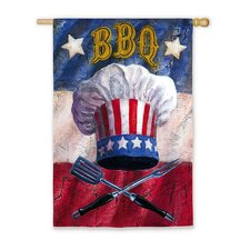 Patriotic Barbecue Vertical Flag