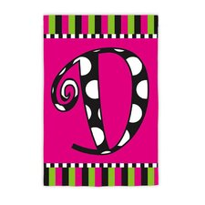 Twirly Curly Monogram Garden Flag