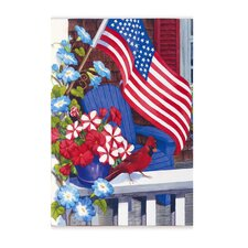 Patriotic Perch Garden Flag