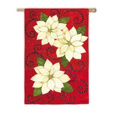 <strong>Evergreen Flag & Garden</strong> Poinsettia Polka Dots Garden Flag