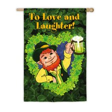 <strong>Evergreen Flag & Garden</strong> Love And Laughter Vertical Flag