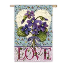 Love Blossoms Garden Flag