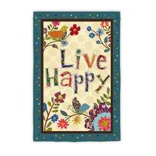 Live Happy Garden Flag