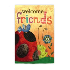 <strong>Evergreen Flag & Garden</strong> Welcome Friends Lady Bug Garden Flag