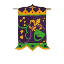 <strong>Evergreen Flag & Garden</strong> Mardi Gras Magnificence Vertical Flag
