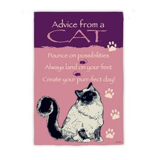 Advice From A Cat Garden Flag