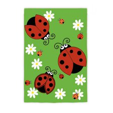 Light Up Lady Bug Garden Flag