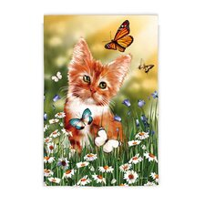 Wishful Kitten Garden Flag