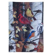 Bird and Birch Garden Flag