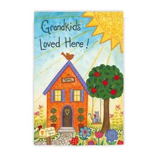 <strong>Evergreen Flag & Garden</strong> Gradkids Loved Here Garden Flag