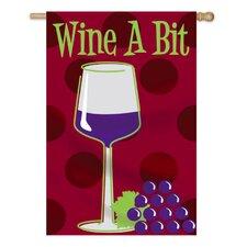 Wine A Bit Applique Garden Flag