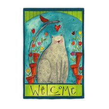 Cat Welcome Garden Flag