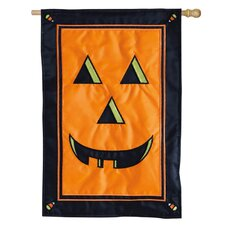 Jack O Lantern Applique Garden Flag