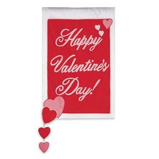 Happy Valentine's Day 2-Sided Garden Flag