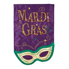 <strong>Evergreen Flag & Garden</strong> Mardis Gras Mask Vertical Flag