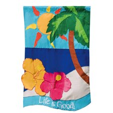 3D Life Is Good 2-Sided Garden Flag