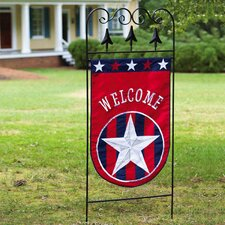 Patriotic Welcome Garden Flag