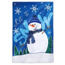 Let it Snow! Garden Flag