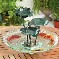 Glass and Metal Tabletop Fountain