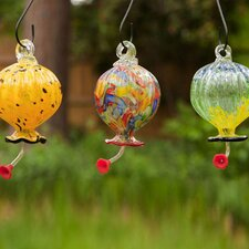 Round Decorative Hummingbird Feeder (Set of 3)