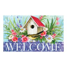 <strong>Evergreen Flag & Garden</strong> Birdhouse Welcome Floormat