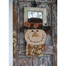 Autumn Friends Scarecrow Wall Plaque with Lights