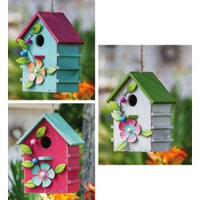 Floral Adorned Hanging Birdhouse (Set of 3)