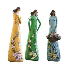 Gift of Love, Angel Blossoms Statue 3 Piece Set