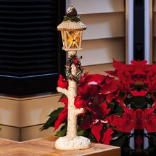 Berry and Pine Lamp Post Statue Christmas Decoration