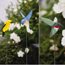 Bloomwood Meadows Midflight Birds on Garden Stake (Set of 3)