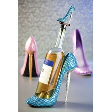 Polystone Rhinestone High Heel Wine Bottle Holder (Set of 3)