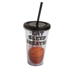 Eat Sleep Breathe Basketball Insulated Cup