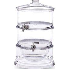 Acrylic 3 Piece Stackable Beverage Dispenser