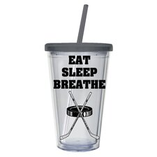 Eat Sleep Breathe Hockey Insulated Cup