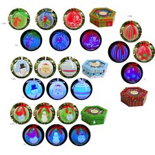 Plastic LED Boxed Ornament (Set of 6)