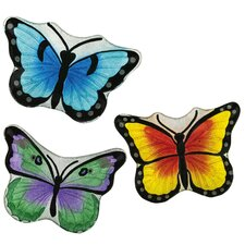 Glass Butterfly Platter (Set of 3)