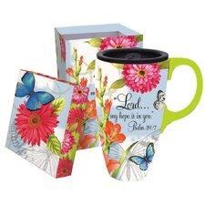 Butterfly Blessings Latte Travel Mug