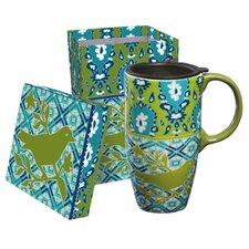 Into the Blue Latte Travel Mug