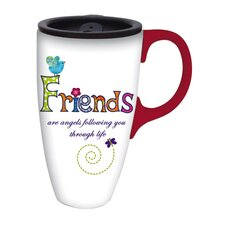 Friends are Angels Latte Travel Mug