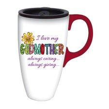 I Love My Godmother Latte Travel Mug