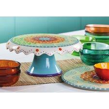 Proud Peacocks Ceramic Cake Stand