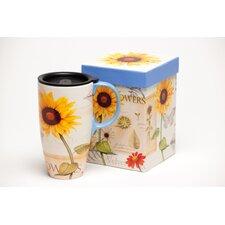 Sunflowers Latte Travel Mug