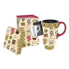Coffee by the Cup Latte Travel Mug