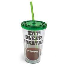 Eat Sleep Breathe Football Insulated Cup