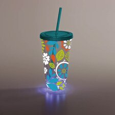 Floral LED Insulated Cup