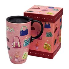 Handbags Latte Travel Mug
