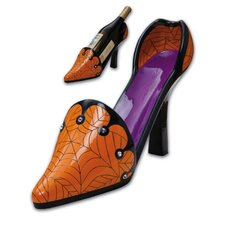 Hairraising Halloween Polystone High Heel Wine Bottle Holder