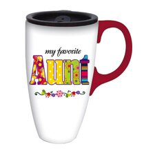 <strong>Cypress Home</strong> My Favorite Aunt Latte Travel Mug