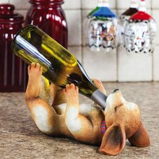 Life with a Dog Polystone Wine Bottle Holder