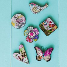 Spring Inspirations Magnet 12 Piece Set with Metal Bucket